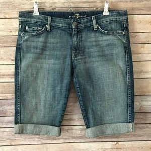 """Pants - 7 for all mankind """"A"""" Pocket Distressed Shorts"""